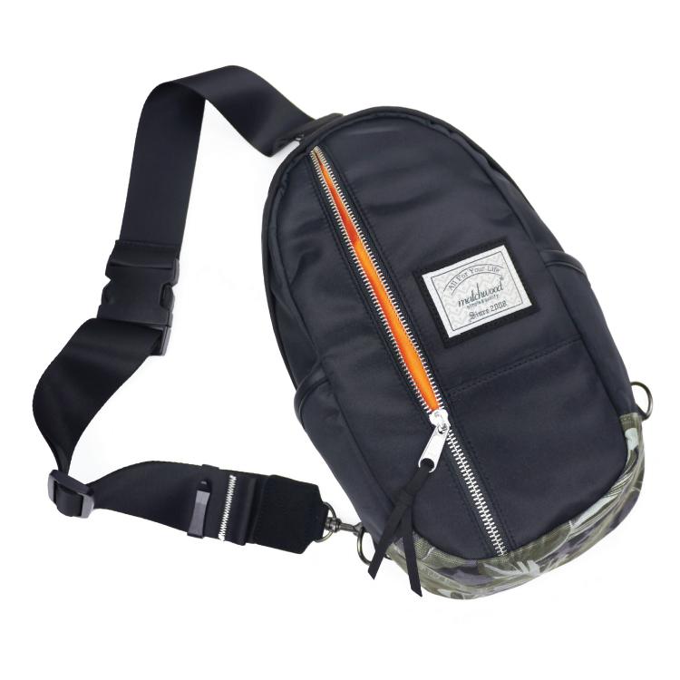 REMATCH - Matchwood Hunter 單肩後背包 黑叢林銀拉鍊款 斜背包 側背包 隨身包 胸前包 基本防水 / 單車/ 輕便 / 旅遊休閒隨身 / 運動 / Fixed gear / Dickies / Porter 可參考