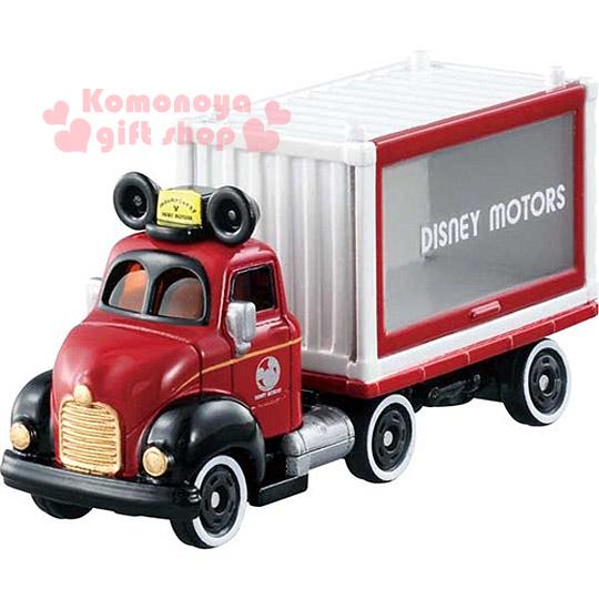 〔小禮堂〕迪士尼 米奇 TOMICA合金小汽車《紅白.貨櫃車.DM-14》經典造型值得收藏