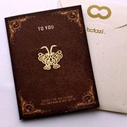 蝴蝶 書籤 18K金 卡片 送禮 禮品 鏤空雕花 花邊手帳鄉村手作婚禮小物 迷你 迴紋針 書夾