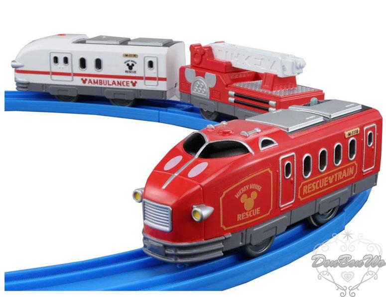 TOMY多美鐵道列車模型迪士尼夢幻米奇救援雙頭軌道車863922海渡