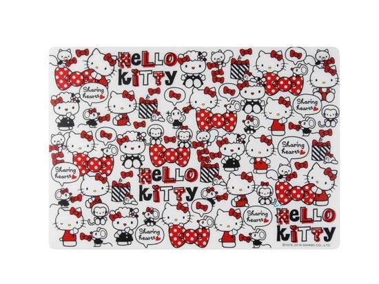 【真愛日本】16042100028 多功能止滑墊-KT點點紅結 KITTY 凱蒂貓 三麗鷗 餐墊 置物墊 廚房