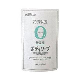 日本【熊野油脂kumano】Pharmaact 無添加沐浴乳(補充包)-450ml