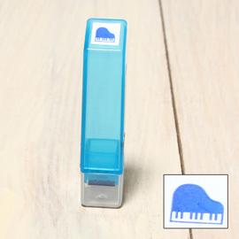 「Kodomo小孩牌」手帳小印章 - 337鋼琴(藍)