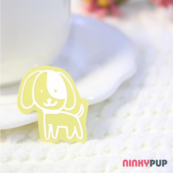 [寵物貼紙] 反光貼紙  萌犬小狗 3.5*2.5cm