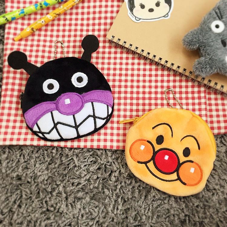 PGS7 日本卡通系列商品 - 麵包超人 それいけ!アンパンマン 系列 絨毛 頭型 零錢包 收納包 細菌人