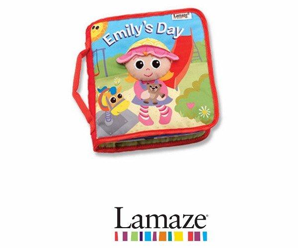 嬰幼兒玩具-Baby Joy World-【美國Lamaze拉梅茲】艾蜜莉的一天布書LC27903