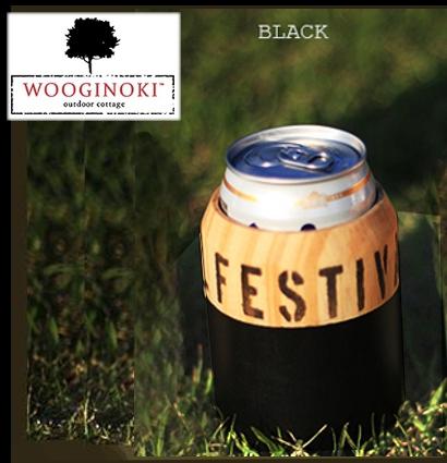 Wooginoki 原木杯套/隔熱杯套/野餐/風格露營餐桌小物 W025-BLK黑/台北山水