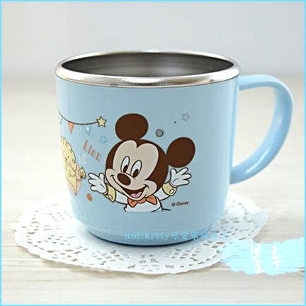 asdfkitty可愛家☆迪士尼米奇防燙304不鏽鋼杯/學習杯/馬克杯-底部防滑-韓國製