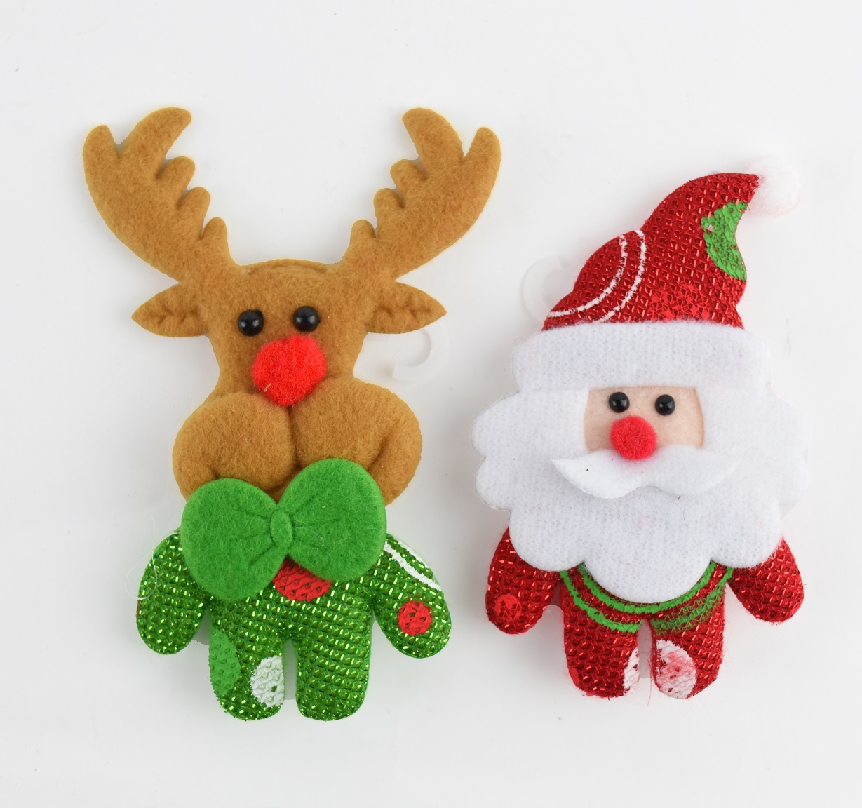 X射線【X457012】兩用公仔胸針吊飾(2入1組),聖誕節/交換禮物/掛飾/裝飾/吊飾/聖誕襪/禮物袋/糖果袋