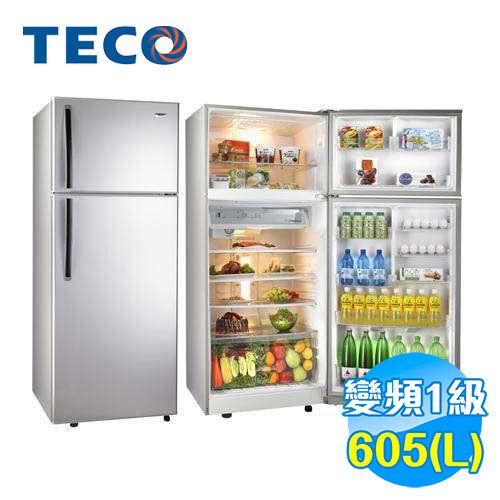 東元 TECO 605公升 雙門定頻冰箱 R6110K