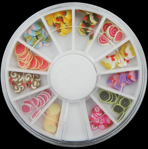 50%OFF【L08569NA】霜淇淋棒棒糖 6cm鑽盒軟陶條軟陶片 指甲油美甲飾品