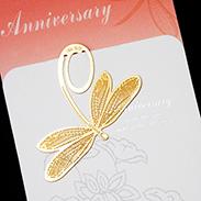 蜻蜓 書籤 18K金 簍空 金屬 雕花 昆蟲 黃金 夾子 籤  葉子 禮品 書