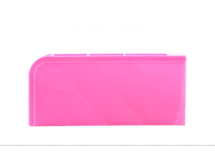 《喨晶晶生活工坊》粉紅色 韓國塑料桌面收納盒 創意雜物整理盒 辦公桌面化妝品儲物盒