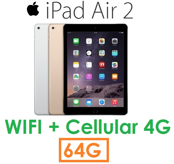 【原廠現貨】蘋果 Apple iPad Air2 平板 64G(WIFI + Cellular 版)Air 2 4G LTE ( 送皮套+保護貼)