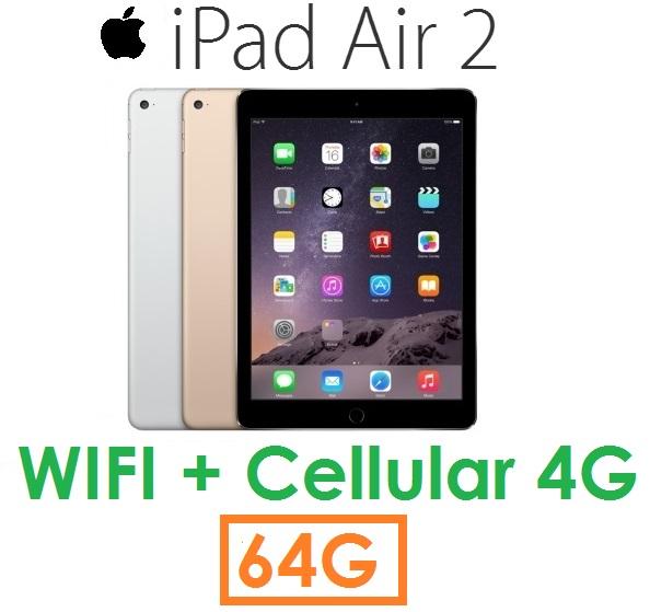 【原廠現貨】蘋果 Apple iPad Air2 平板 64G(WIFI + Cellular 版)Air 2 4G LTE ( 送皮套+保護貼)