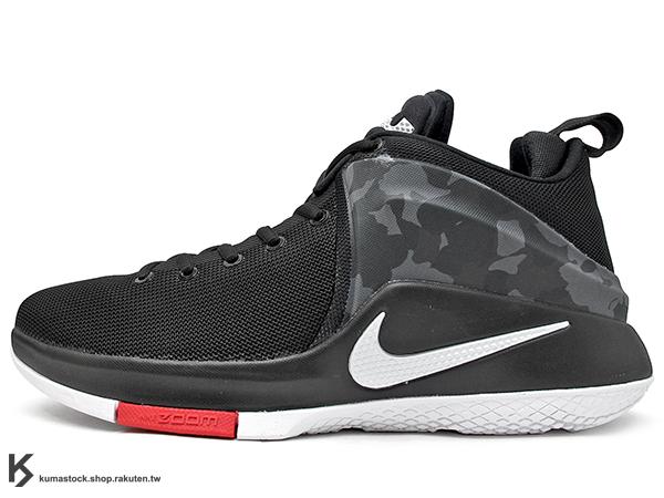 2016 NBA 小皇帝 JAMES 平價版子系列代言鞋款 NIKE LEBRON ZOOM WITNESS EP 黑灰 黑灰白 騎士隊 ZOOM AIR 氣墊 耐磨橡膠底 (884277-002) 1116