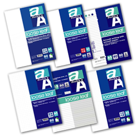 Double A A5/20孔 標準橫線/空白內頁/空白軋線/兩段式內頁/點點內頁/方格內頁活頁紙 80頁/包