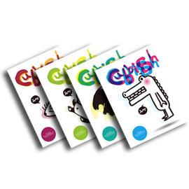 Cubbish B5膠裝左開筆記本-黑白動物派對系列 橫線(4款) /本