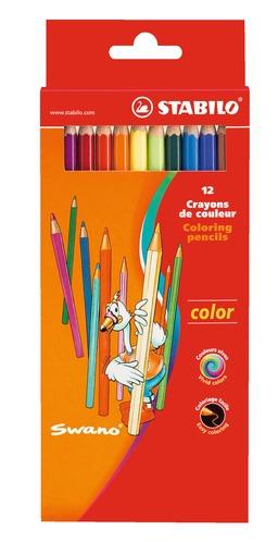 STABILO 德國天鵝牌 Color系列 六角形色鉛筆 紙盒組 12色12支裝(型號:1912/77-01)