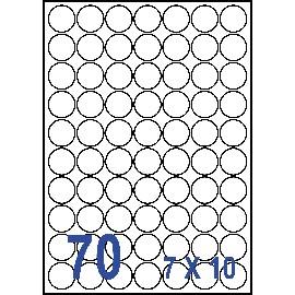 UNISTAR 裕德 白色電腦標籤 US2700【(7x10)70格圓形 20張/包】雷射/噴墨/影印三用