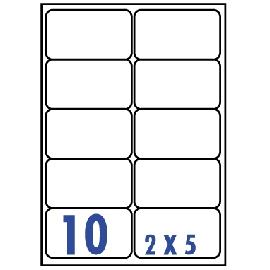 UNISTAR 裕德 白色電腦標籤 US4268【(2x5)10格圓角 20張/包】雷射/噴墨/影印三用