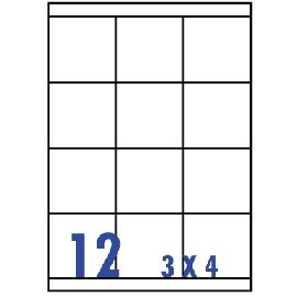 UNISTAR 裕德 白色電腦標籤 US4279【(3x4)12格直角 20張/包】雷射/噴墨/影印三用