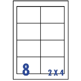 UNISTAR 裕德 白色電腦標籤 US4280【(2x4)8格直角 20張/包】雷射/噴墨/影印三用