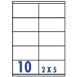 UNISTAR 裕德 白色電腦標籤 US4425【(2x5)10格直角 20張/包】雷射/噴墨/影印三用