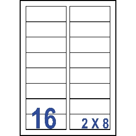 UNISTAR 裕德 白色電腦標籤 US4479【(2x8)16格直角 20張/包】雷射/噴墨/影印三用