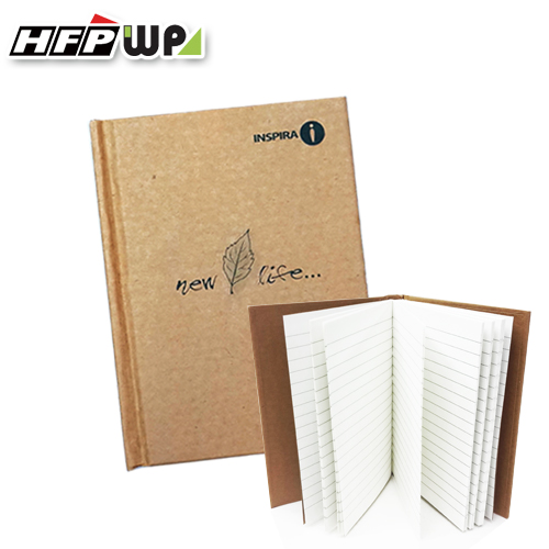 3折 再生紙精裝橫條筆記本100張 日記本 手帳記事本HB0277314