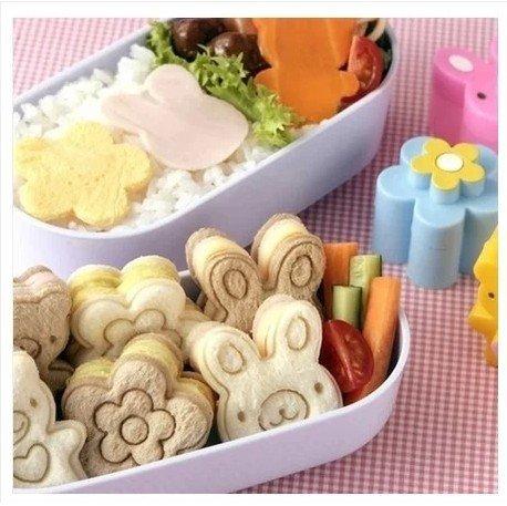 =優生活=可愛小熊 花朵 兔子三明治模具 餅乾模具 麵包餅乾壓花器 便當模型3個 壽司模具 野餐