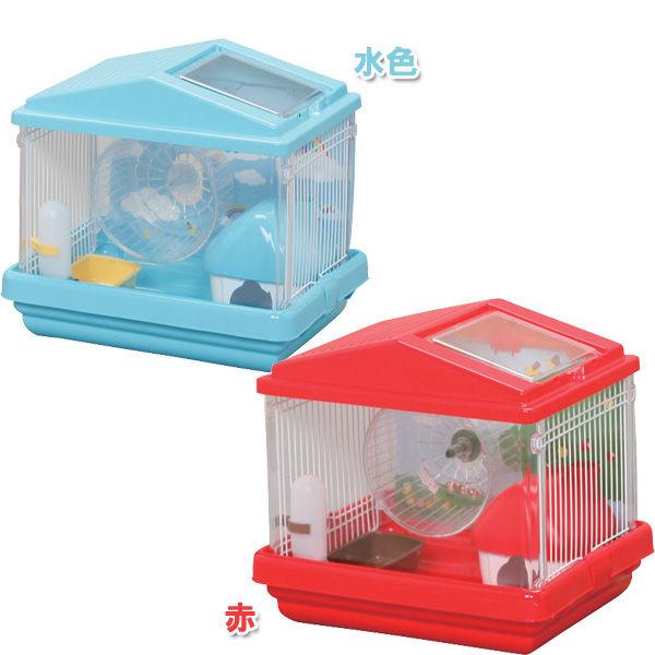 《IRIS寵物鼠籠》單層寵物鼠造型籠HCK-411(紅/藍)