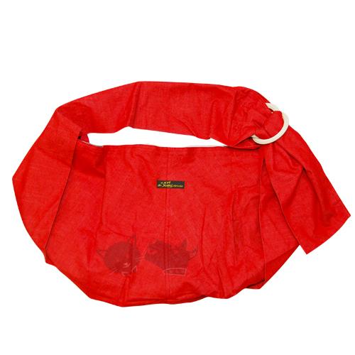 《 Ayumi寵物背巾 》 可調式袋鼠媽媽袋DogSling/紅色