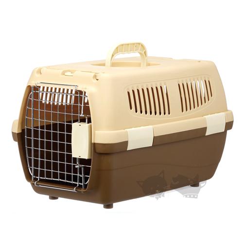 《 日本Marukan》可上開精巧提籠DP-174咖啡色/小型犬/猫用