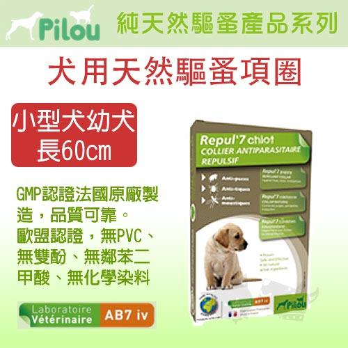 《 法國Pilou皮樂 》天然驅蚤項圈 - 幼犬小型犬用