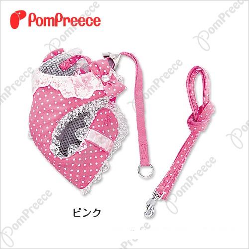 《日本PomPreece 》 免運-貓用日本蘿麗風貓胸背(粉色/紫色)9637