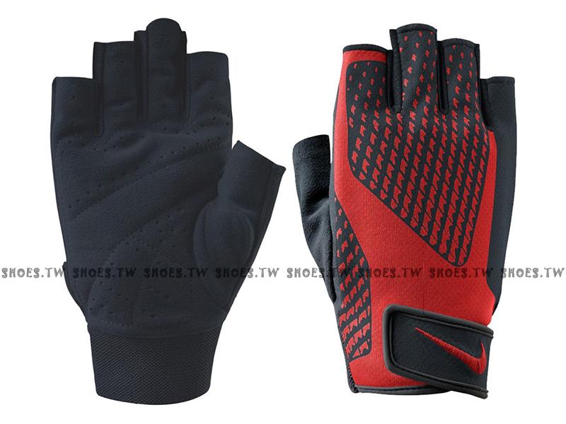 Shoestw【AC3787-041】NIKE 健力手套 重訓手套 黑紅 健身房