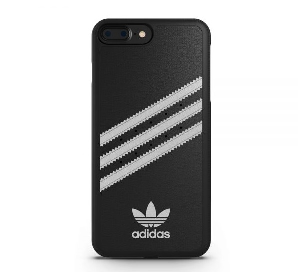 【adidas Originals】iPhone 7 Plus/i7+(5.5吋)-黑色 雙材質保護殼 斜紋 背蓋/手機套/保護套/手機殼