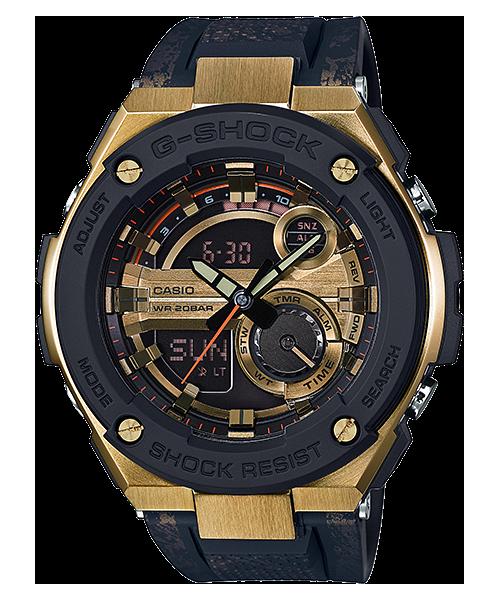 國外代購 CASIO G-SHOCK GST-200CP-9A 雙顯 大錶面 運動防水手錶腕錶電子錶男女錶 炫酷黑金