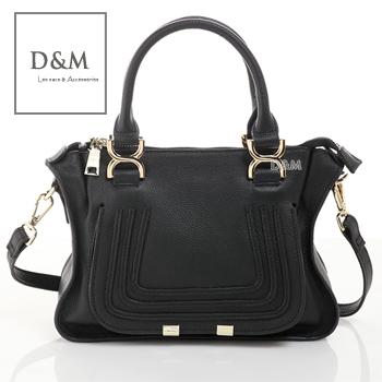 D&M Shop 歐美明星街拍款marcie真皮牛皮手提包 斜/側背包 Chloe可參考【B11117】