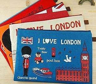 =優生活=韓國文具 飛躍倫敦文件夾 時尚資料袋 文件袋 收納袋