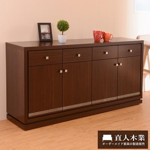 【日本直人木業】STYLE 生活美學160公分廚櫃