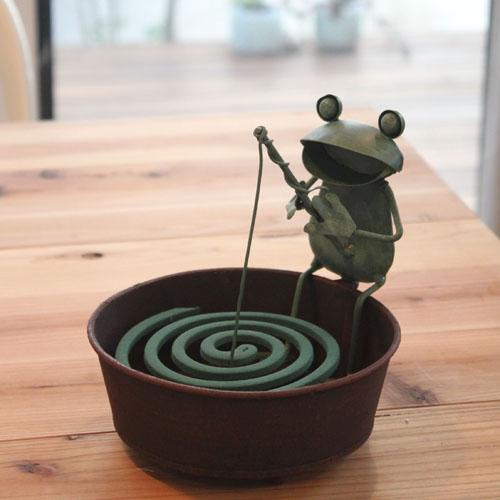 日本進口 超可愛青蛙釣魚造型蚊香座 蚊香架 *夏日微風*