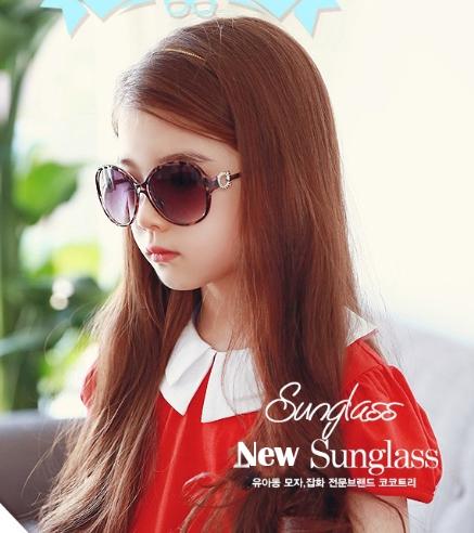Kocotree◆貴族質感圓鏤空造型兒童紫外線護目太陽眼鏡-豹紋