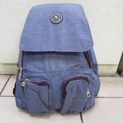 ~雪黛屋~Jockey 淑女後背包 超輕防水尼龍布材質 隨身物品專用包外出郊遊萬用後背包#018藍紫