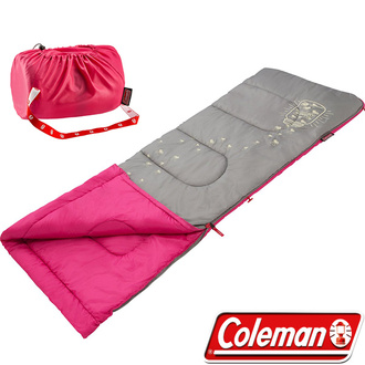 Coleman 美國 | 夜光型兒童睡袋 / C7 桃紅 | 秀山莊(CM-22263)