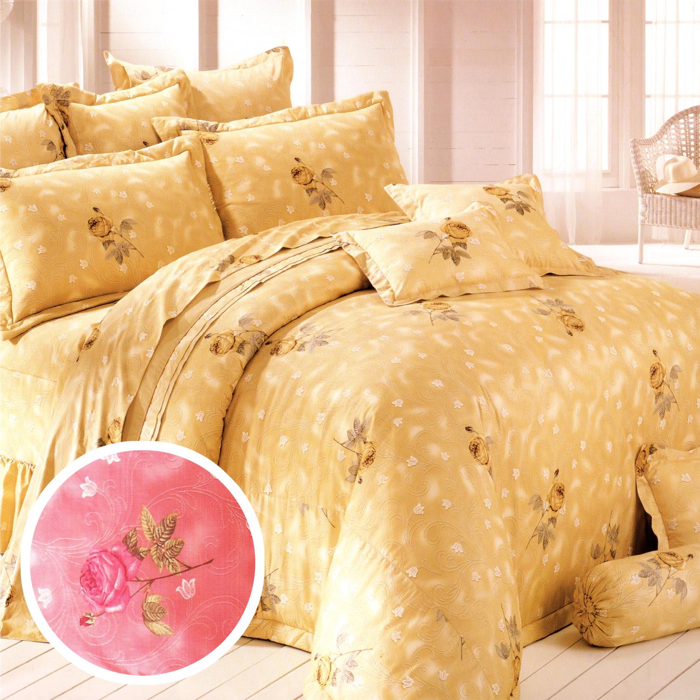 【名流寢飾家居館】玫瑰懷情.100%精梳棉.加大單人床罩組全套.全程臺灣製造