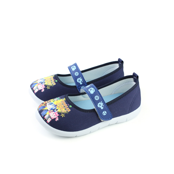 POLI 波力 救援小英雄 ROBOCAR 娃娃鞋 藍色 中童 no575