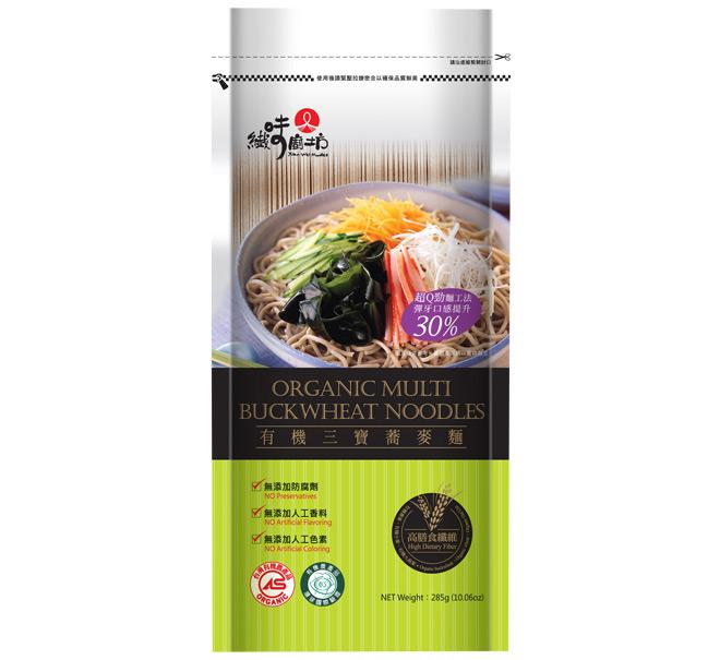 【纖味廚坊】有機三寶蕎麥麵條(285g)★含洋車前子殼粉的有機麵