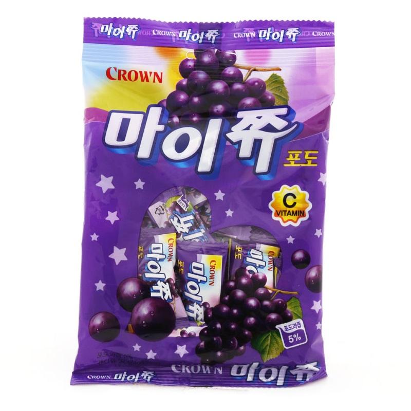 韓國零食 Crown 葡萄軟糖 韓星IU最愛